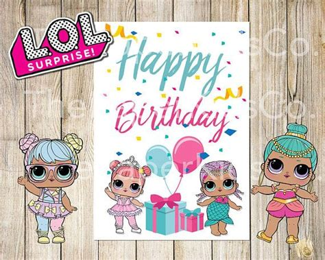 printable birthday cards blank inside printable l o l surprise dolls birthday card once you