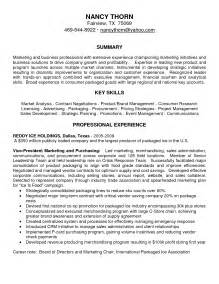 Resume Summary Sles For Marketing Best Photos Of Marketing Resume Summary Marketing Director Resume Summary Sle Sales