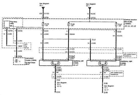 ford f150 cargo light switch interior and exterior light wiring diagram ford truck