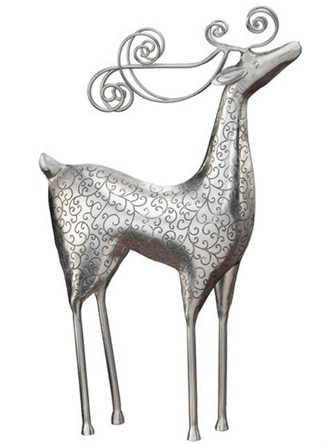 silver reindeer standing decor only 29 99 at garden fun