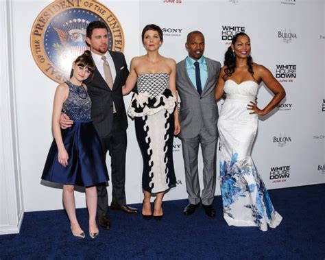 Cast Of White House Down Attends Movie Premiere In New York Photos Global Grind