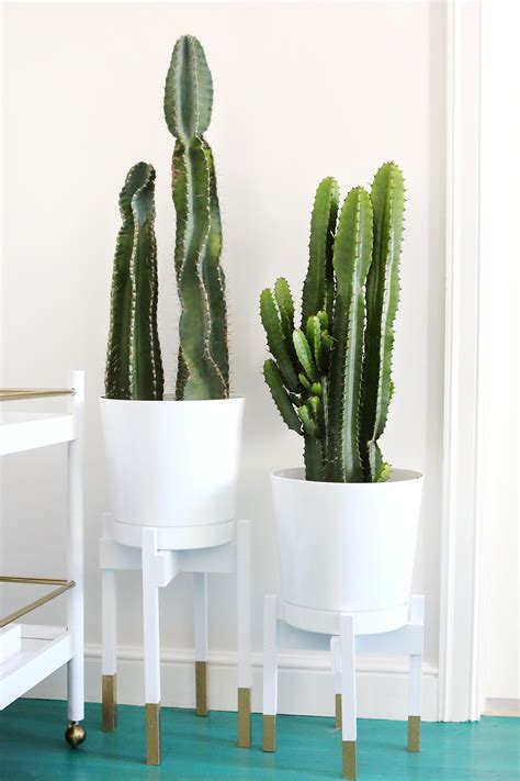Diy Modern Planter by Gold Detail Mid Century Plant Stand Diy A Beautiful Mess