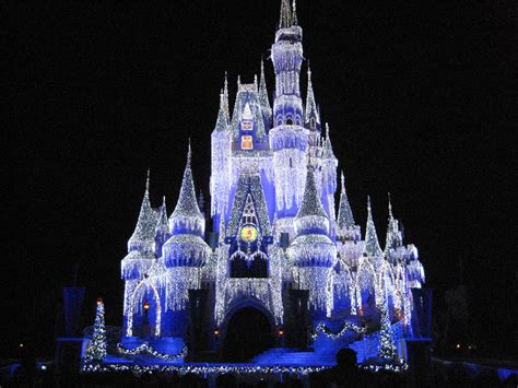 cinderella castle christmas lights cinderella castle at