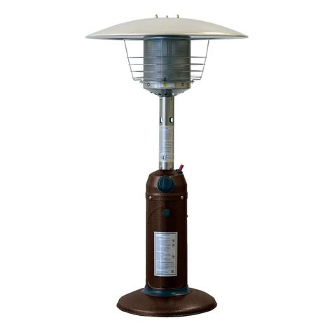 Garden Patio Heaters Gardensun 11 000 Btu Powder Coated Bronze Tabletop Propane Patio Heater Hps C Pc The Home Depot