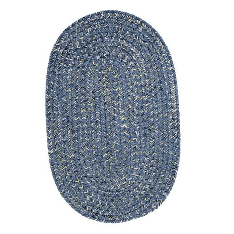 rugs made in the usa colonial mills west bay blue tweed braided rug made in the usa wb51 the