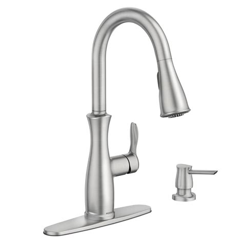 clean kitchen faucet moen nellis single handle pull sprayer kitchen faucet