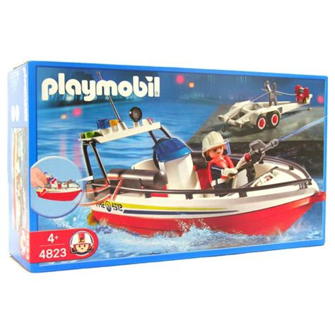 playmobil boat playmobil fire boat with trailer 4823 table mountain toys