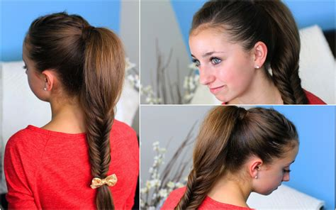 cute medium hairstyles cool easy hairstyles zendaya fluffy fishtail braid hairstyles for long hair cute
