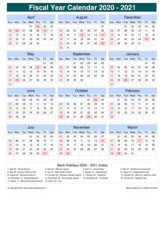 fiscal portrait calendar vertical grid sunday  saturday holiday india portrait