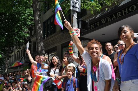 seattle pride the future of pride seattle pride parade draws thousands kuow news and
