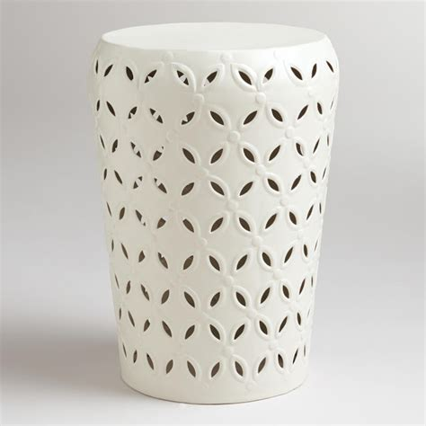 White Garden Stools by The Eclectic Owl White Garden Stool