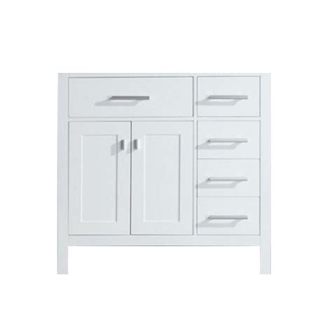 design elements vanity home depot design element 35 5 in w x 21 5 in d vanity cabinet only in white with right drawer