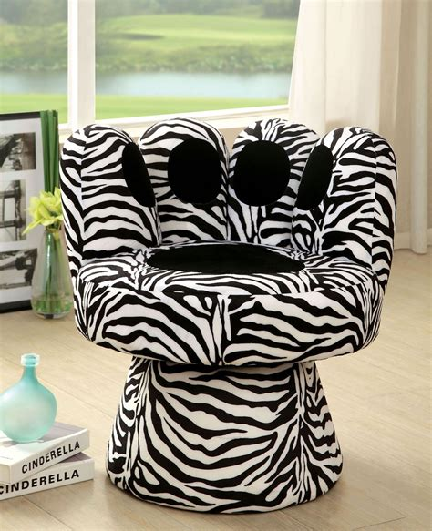Zebra Print Accent Chair Paus Zebra Print Swivel Accent Chair From Furniture Of America Cm Ac6806zb Coleman Furniture