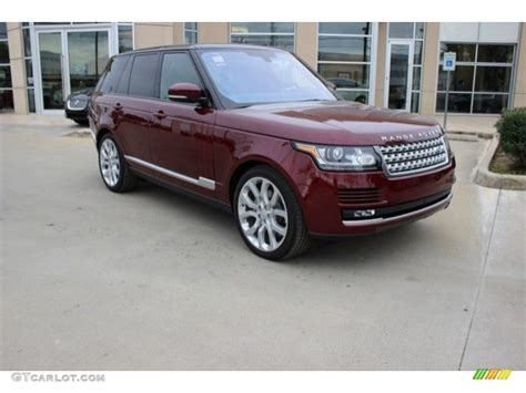 Home Interior Paint Colors by 2016 Montalcino Red Metallic Land Rover Range Rover Hse