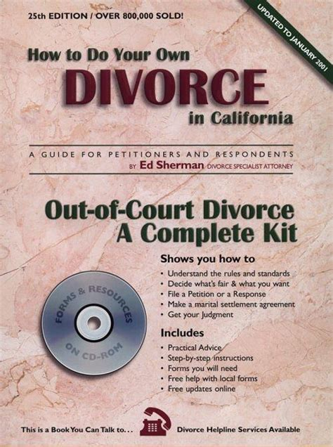 how to do your own divorce a practical step by step guide to the and financial processes in the breakdown of marriage books how to do your own divorce in california