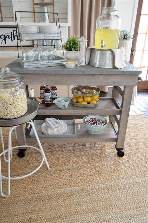 kitchen snack bar ideas farmhouse kitchen island cart