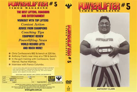 chris confessore bench press powerlifter video magazine issue 5 pcb 4138dvd 29