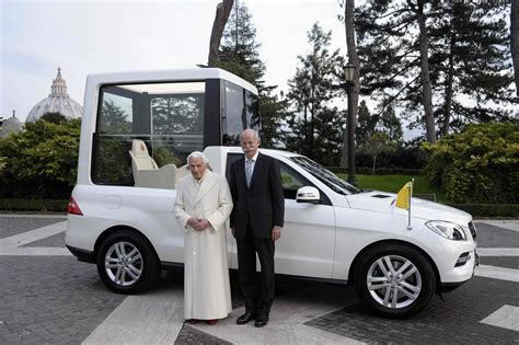 pope mobile mercedes benz new popemobile 01 benzinsider a