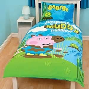 George Pig Toddler Bed Covers Peppa Pig George Boys Reversible Single Duvet Quilt