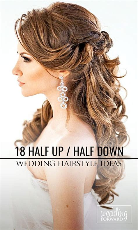 Wedding Hairstyles Side Parting by 36 Half Up Half Wedding Hairstyles Ideas Beautiful