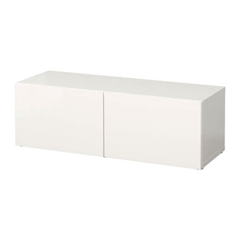 besta unit best 197 shelf unit with doors white selsviken high gloss