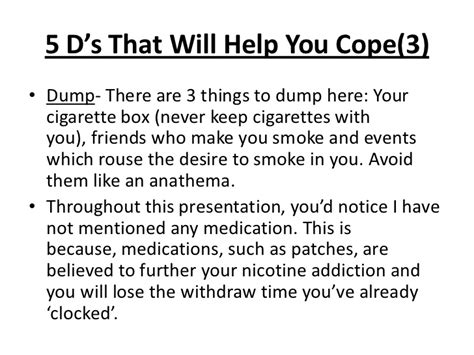 Nicotine Detox Time by Ways To Cope With Nicotine Withdrawal Symptoms