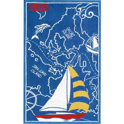sailboat rug sailboat and map rug