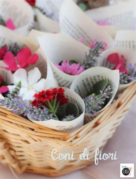 di fiore matrimonio fai da te niente riso ma coni di fiori