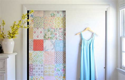 Wallpaper Closet Doors by Creative Solutions For Closet Doors