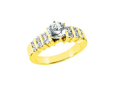 Wedding Ring Kl by 1 00carat Cut Bridal Engagement Ring Solid