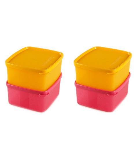 Cool N Fresh Set tupperware multicolour cool n fresh plastic container set of 4 buy at best price in