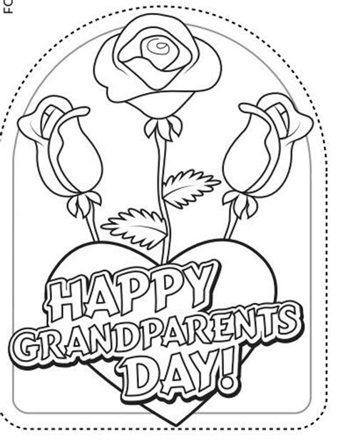 day card templates to colour 105 best grandparents day images on