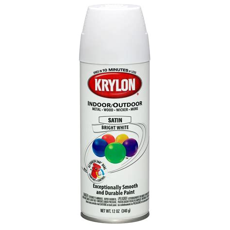 krylon indoor outdoor satin bright white tools painting supplies spray paint