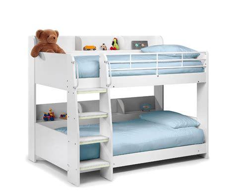 darci kids white bunk bed