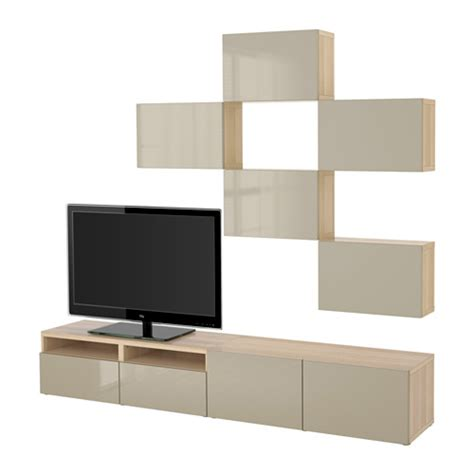 besta beige best 197 tv storage combination white stained oak effect