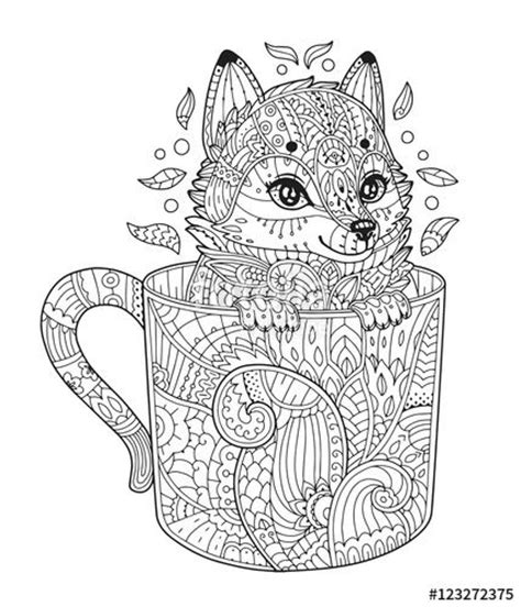fox mandala coloring page 1695 best colouring pages images on pinterest adult