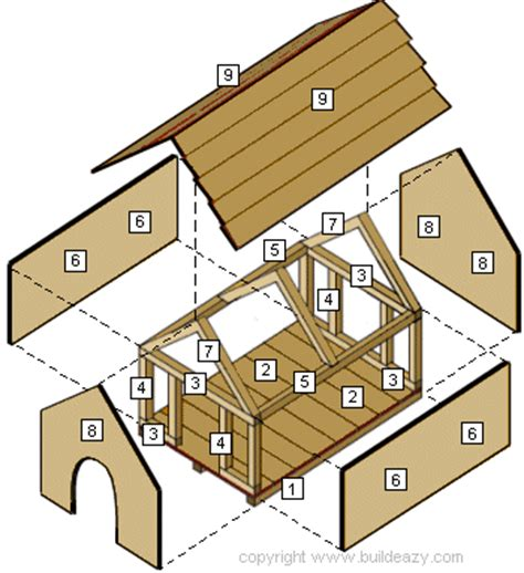 dog house building kit wood work 20130514