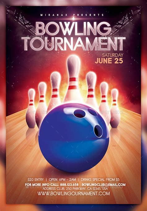 bowling flyer template bowling flyer template 19 in vector eps psd