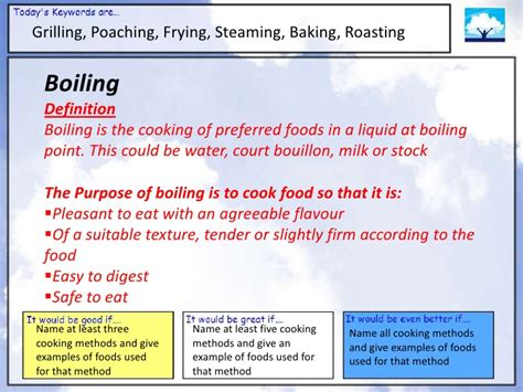 Suitable Meaning cooking methods