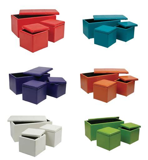 3 piece ottoman set 3 piece set bold colors vinyl 34 5w 1 ottoman bench 2