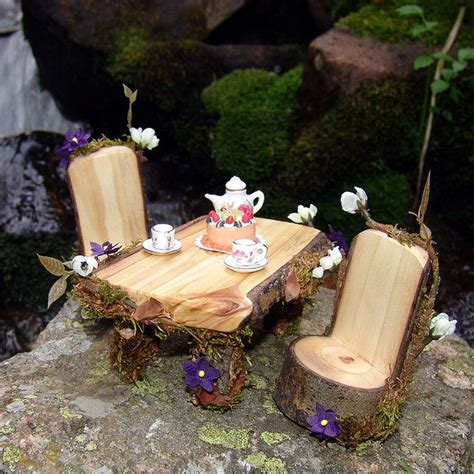 fairy furniture gnomes and fairies pinterest
