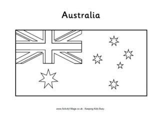 australian flag template to colour australia flag printables