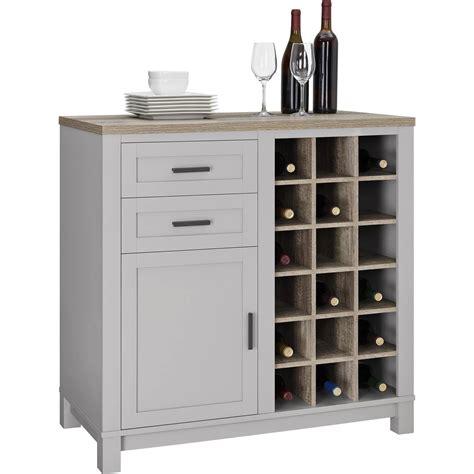 side cabinet wine rack wine cabinets walmart com