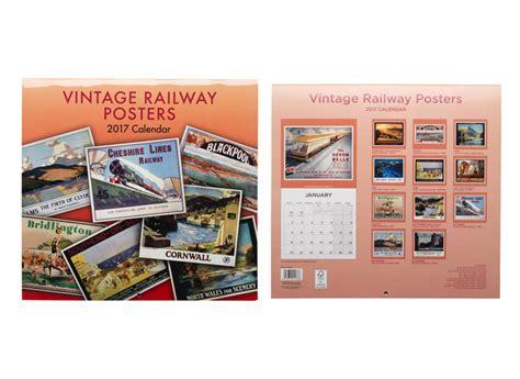 Calendar 2018 Whsmith Whsmith Vintage Railway Posters Premium Square Wall