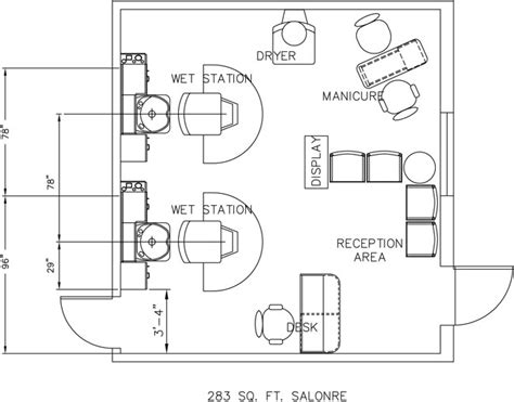 Hair Salon Floor Plans by Salon Floor Plan Design Layout 283 Square Foot