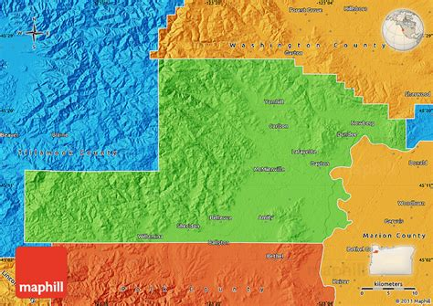 a political map of oregon political map of yamhill county