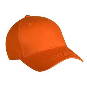 children s orange baseball cap