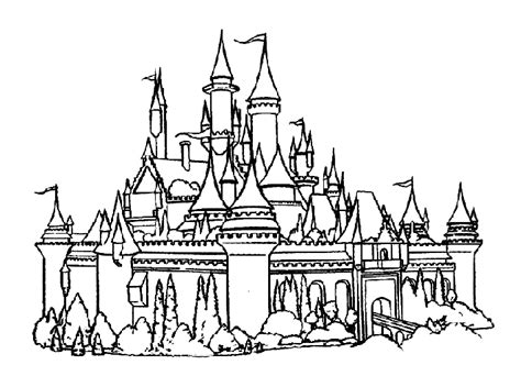coloring pages disney castle castle cinderellas coloring page 171 free coloring pages