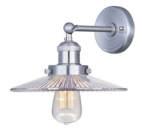 Hton Bay Wall Sconce Replacement Glass maxim mini hi bay 1 light wall sconce 10 clear glass shade