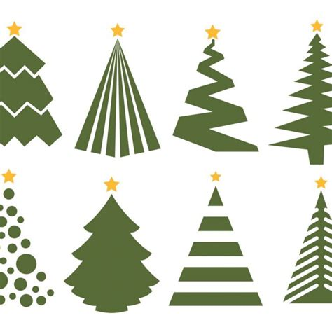 vector christmas tree tutorial free vector christmas tree vector set on white background